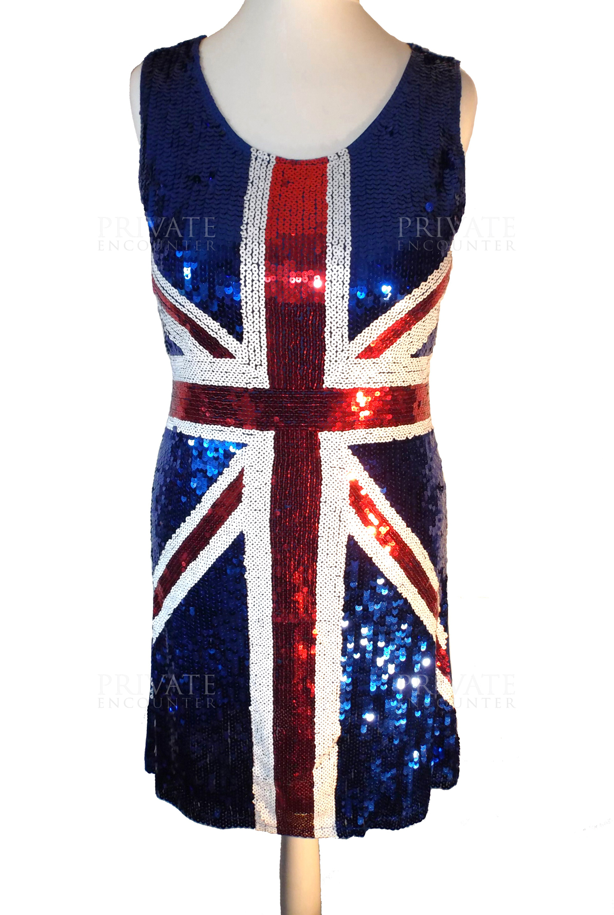 Sequin British - Union Jack- Eurovision - Spice Girls Style Dress ...